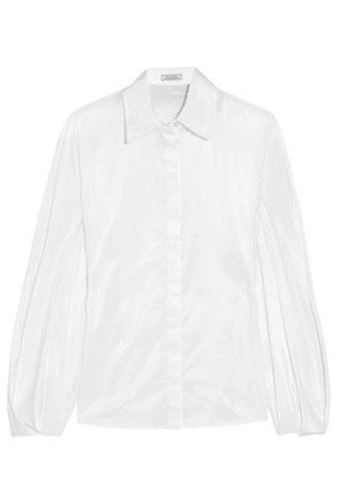 Nina Ricci - Satin-crepe Shirt - White