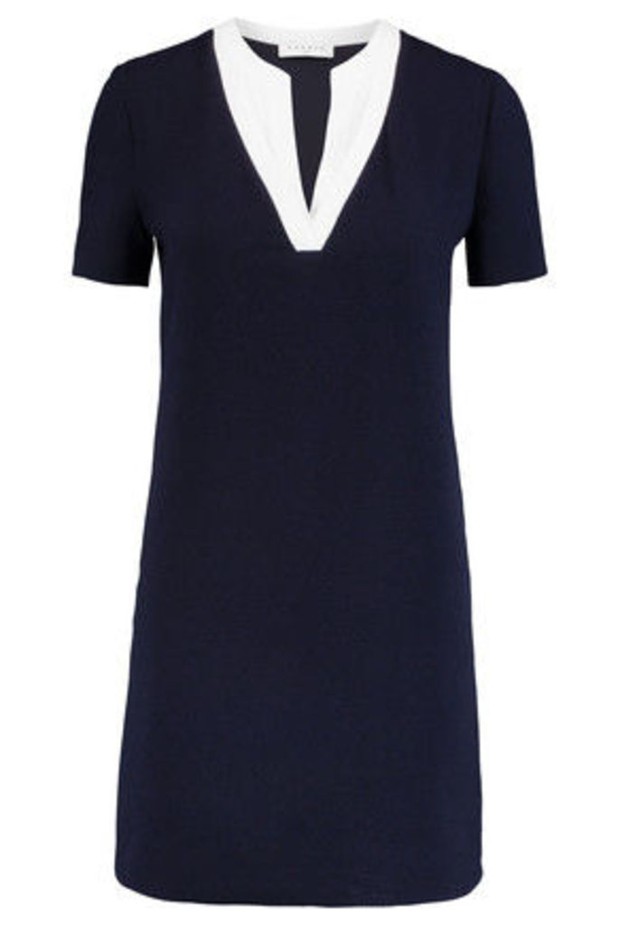 Sandro - Raquel Crepe-trimmed Cloqué Mini Dress - Midnight blue