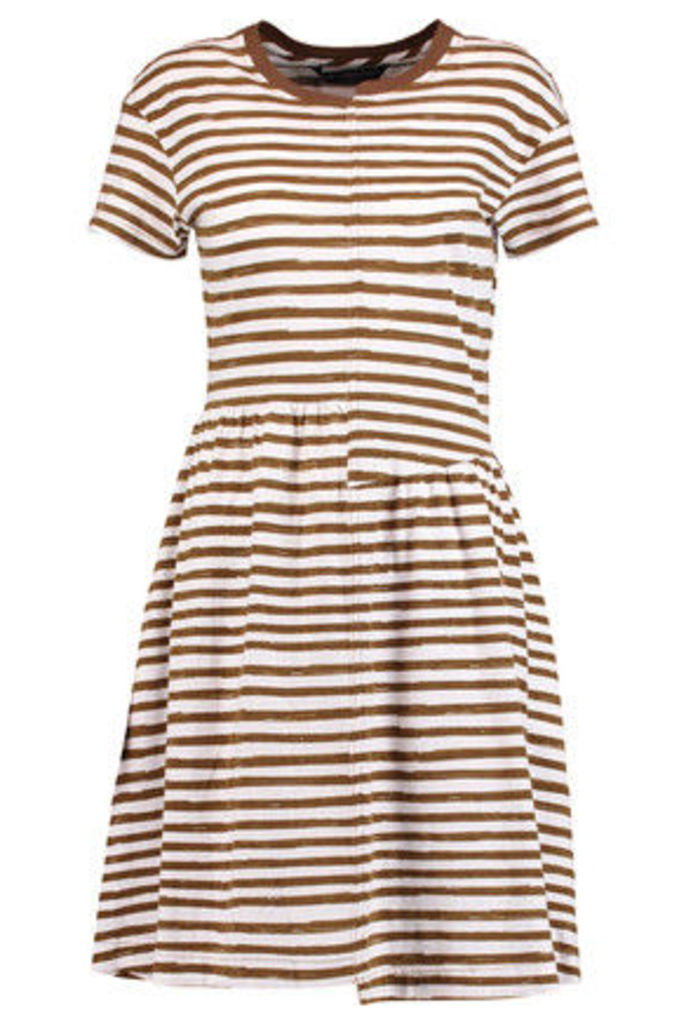 Marc by Marc Jacobs - Striped Cotton Dress - Forest green
