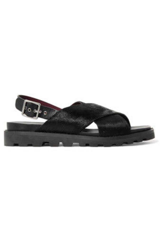 Marc by Marc Jacobs - Calf Hair And Leather Sandals - Black