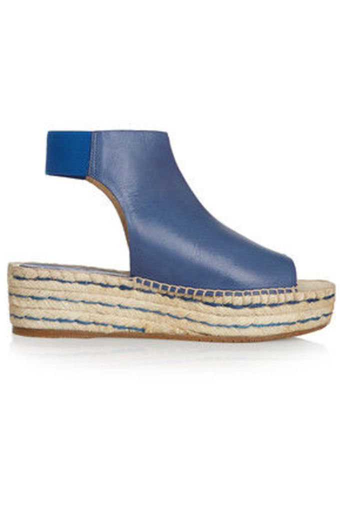 Paloma Barceló - Leather Espadrille Wedge Sandals - Blue