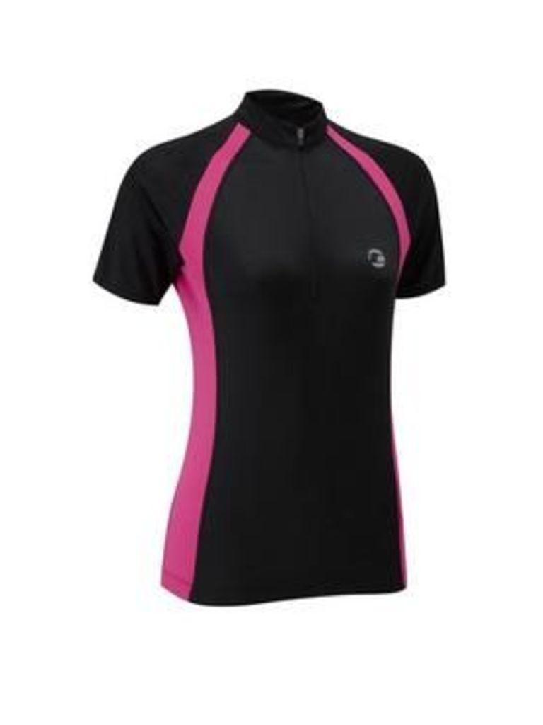 tenn Sprint Women's Short Sleeve Jersey, Black/Pink, Size 16, Women