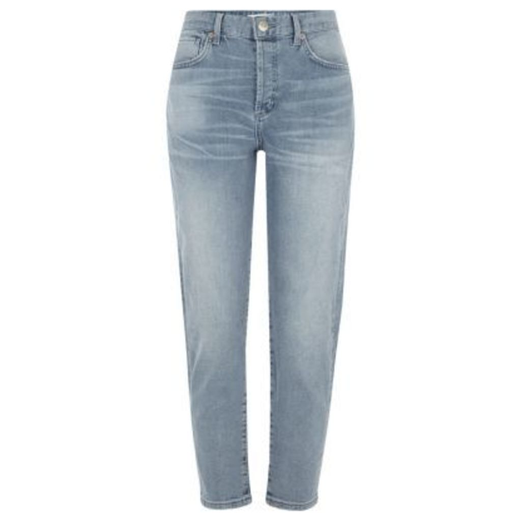 River Island Womens Blue authentic wash tapered jeans