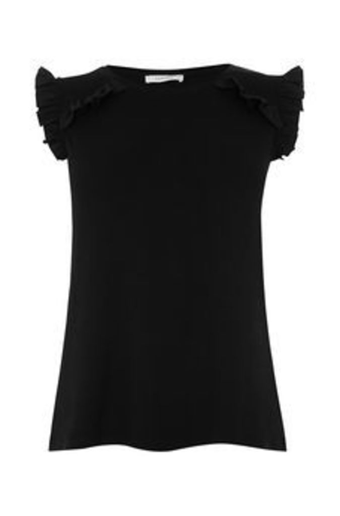 RUFFLE FITTED SHELL TOP