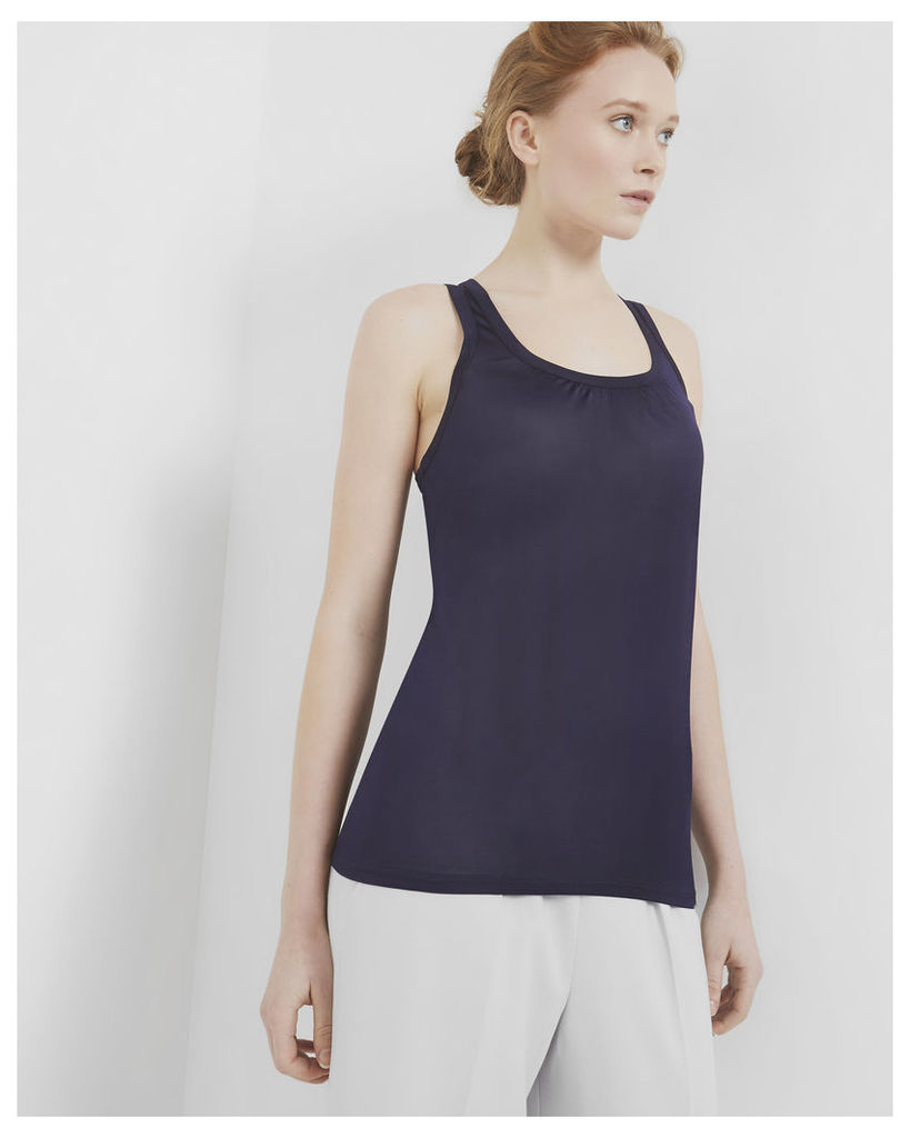 Ted Baker Pleated detail cami top Navy
