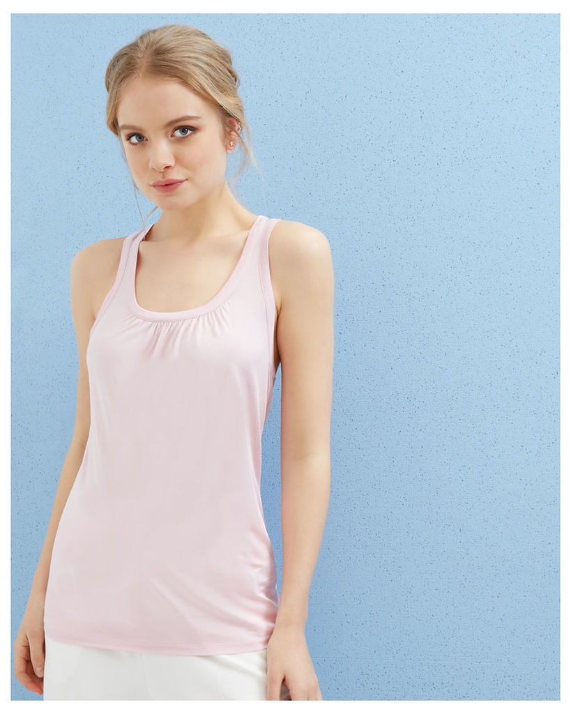 Ted Baker Pleated detail cami top Light Purple