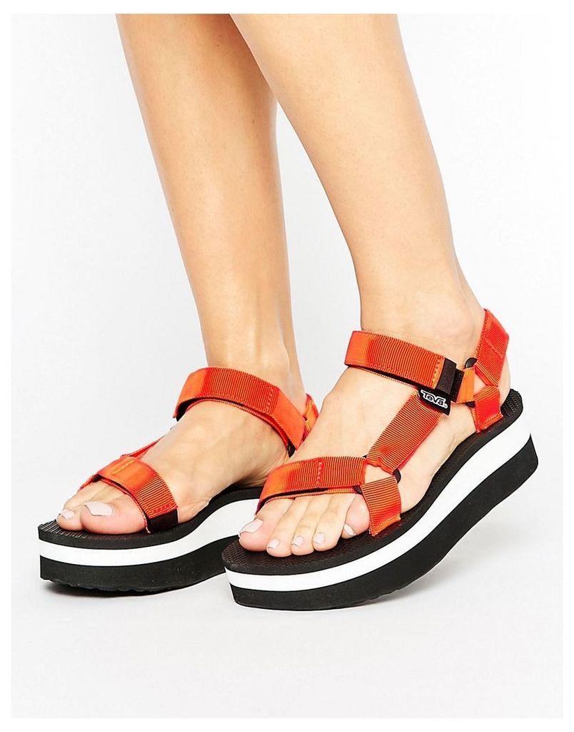 Teva Stripe Flatform Sandal - Golden poppy