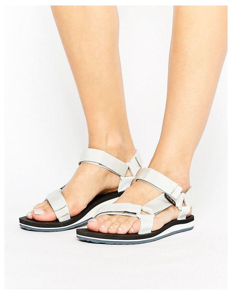 Teva Original Flat Sandal - White/black