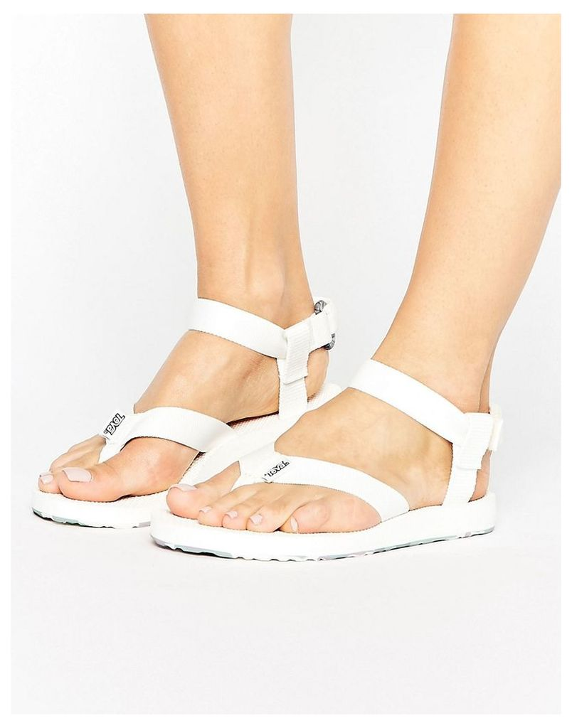 Teva Original Marbled Flat Sandal - Bright white