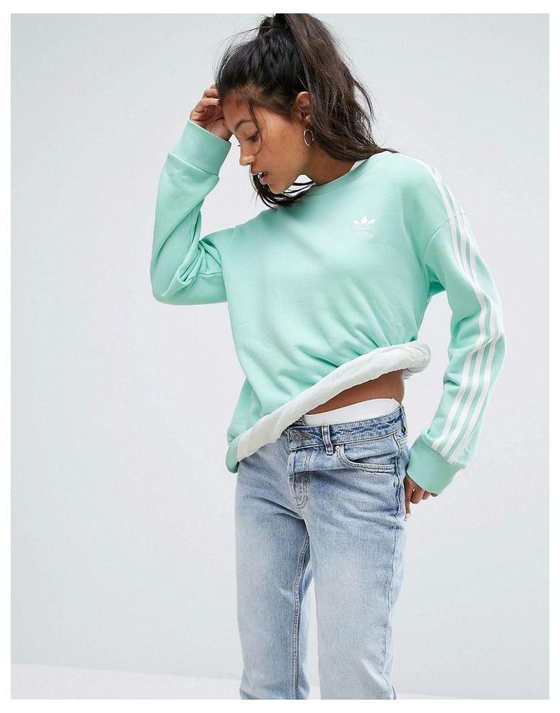 adidas Originals Mint Three Stripe Sweatshirt - Easy green s17