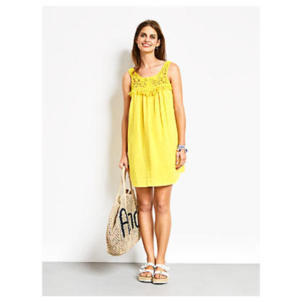 hush Macrame Beach Dress, Dandelion