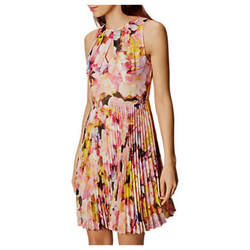 Karen Millen Floral Collection Dress, Yellow/Multi