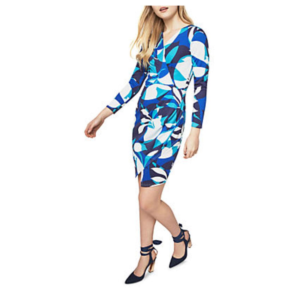 Closet Long Sleeve Printed Dress, Multi