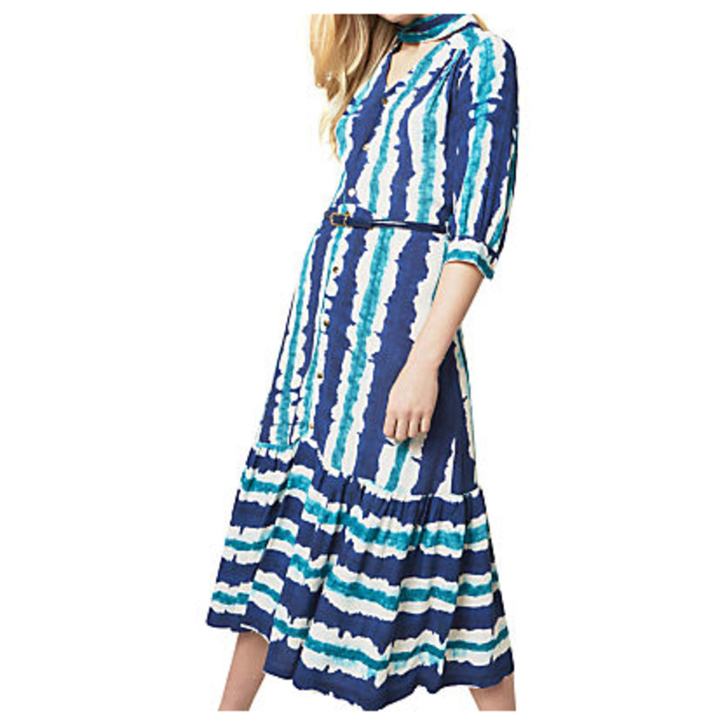 Closet Tie Bow Stripe Dress, Multi