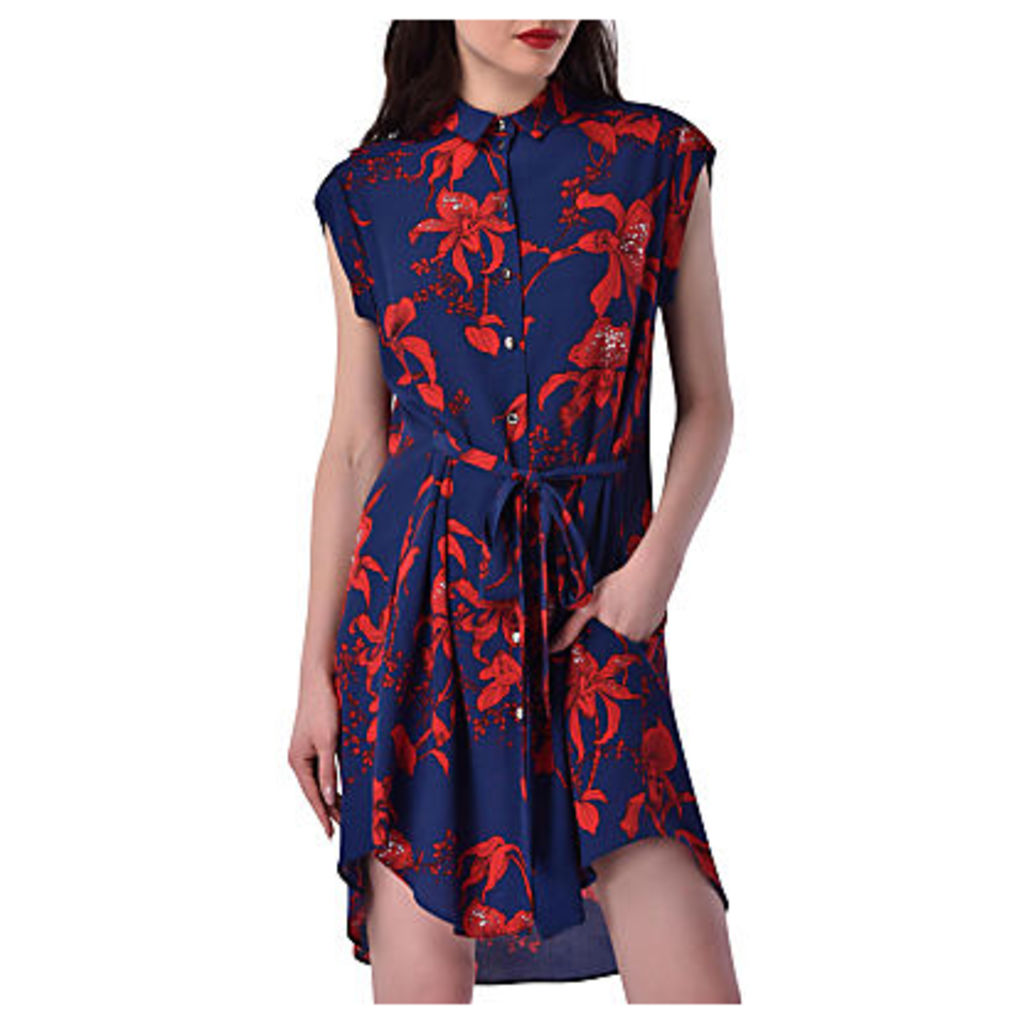 Closet Tie Shirt Dress, Multi