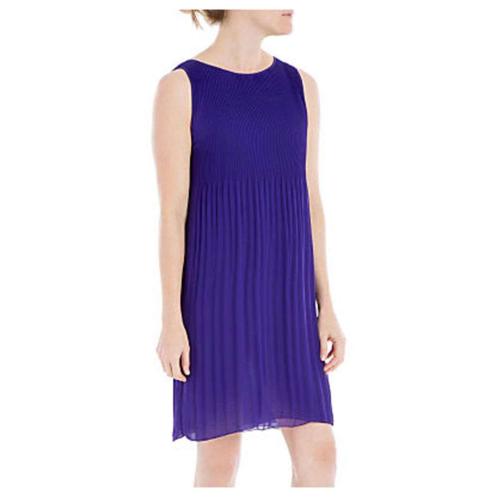 Max Studio Sleeveless Pleated Dress, Purple