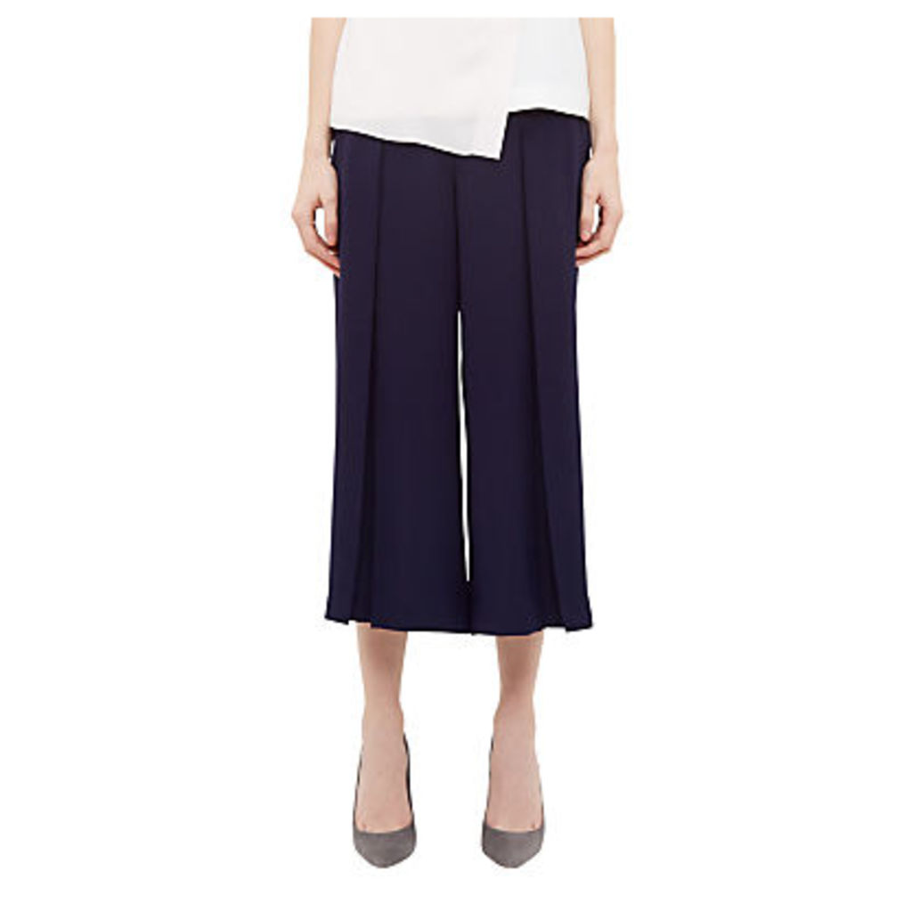 Ted Baker Pleat Crepe Culottes, Navy