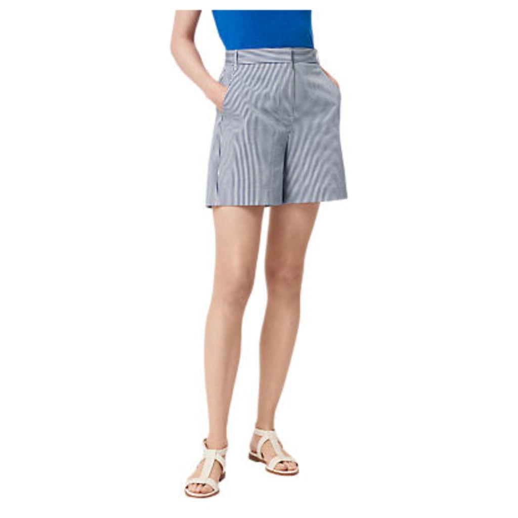 L.K. Bennett Alana Seersucker Shorts, Navy