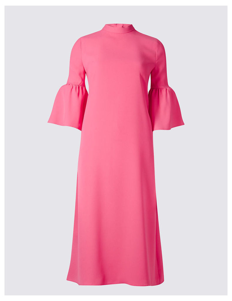 M&S Collection Tie Back Flared Sleeve Tunic Dress