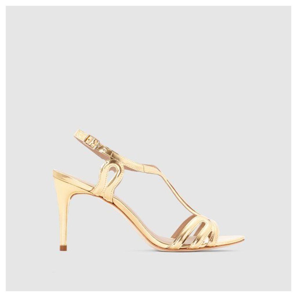 COSMOPARIS AKANE/MET Metallic Sandals