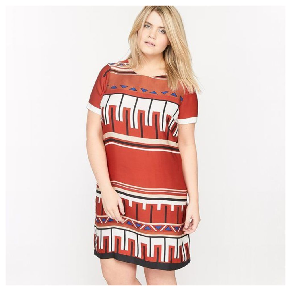 Short-Sleeved Printed Tunic Dress