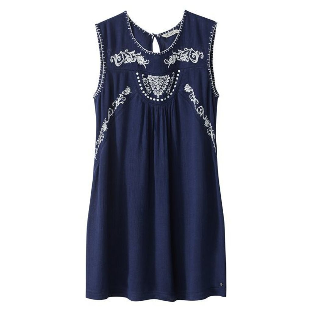 Plain Short Sleeveless Dress