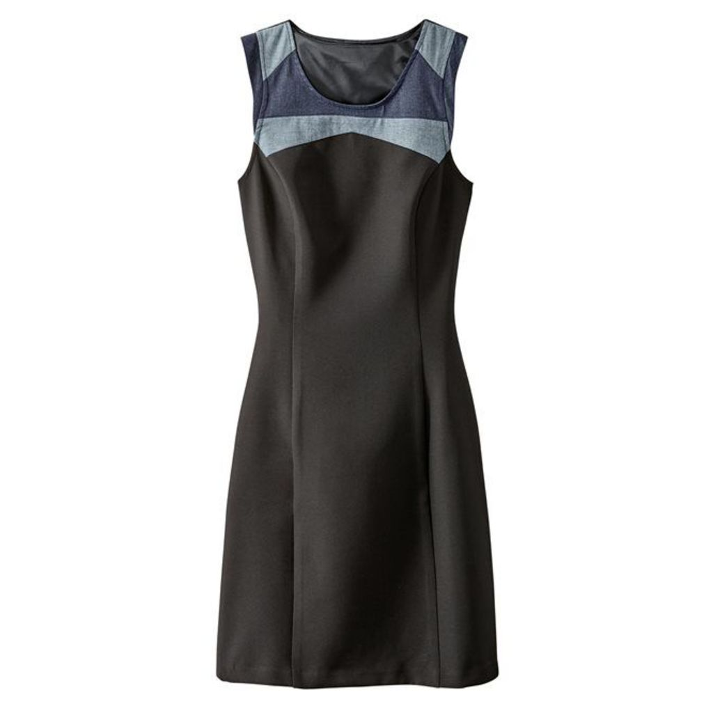 Plain Short Dress with Shoestring Straps