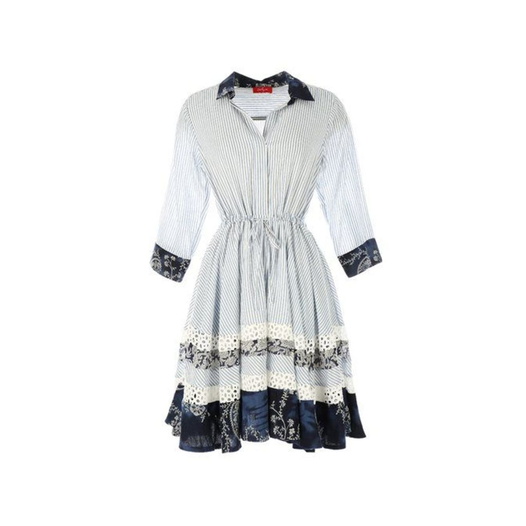Printed Dress with 3/4 Length Sleeves