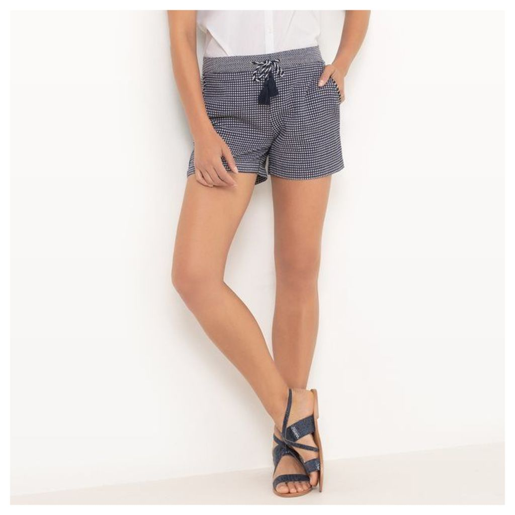 Jacquard Shorts with Pompoms