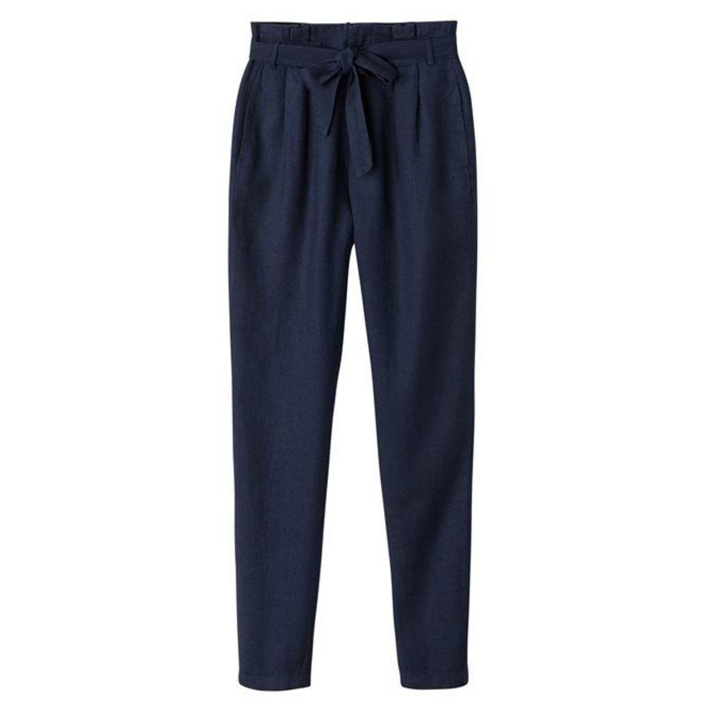 Basic Plain Straight Trousers