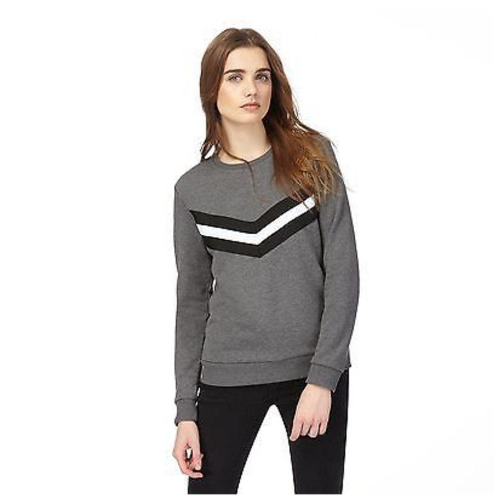 Red Herring Womens Grey Chevron Stripe Sweater From Debenhams
