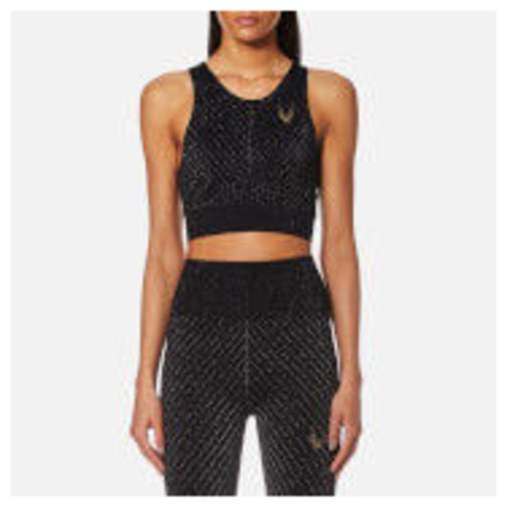 Lucas Hugh Women's Technical Knit Stardust Crop Top - Black/Multi