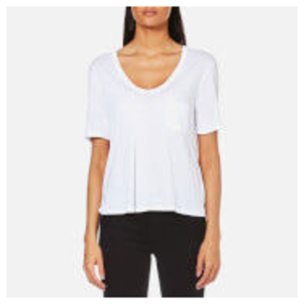 T by Alexander Wang Women's Classic Cropped T-Shirt - White