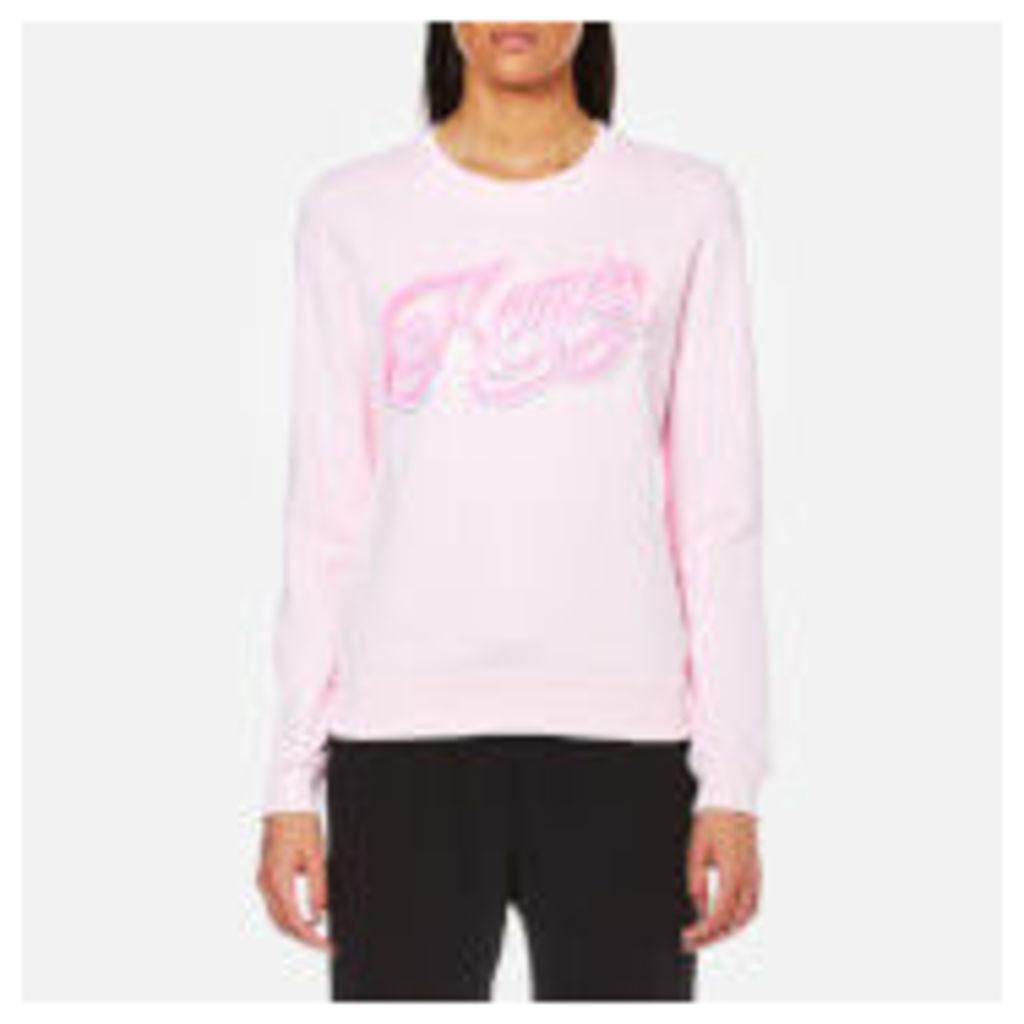 KENZO Women's Light Cotton Molleton Logo Sweatshirt - Faded Pink