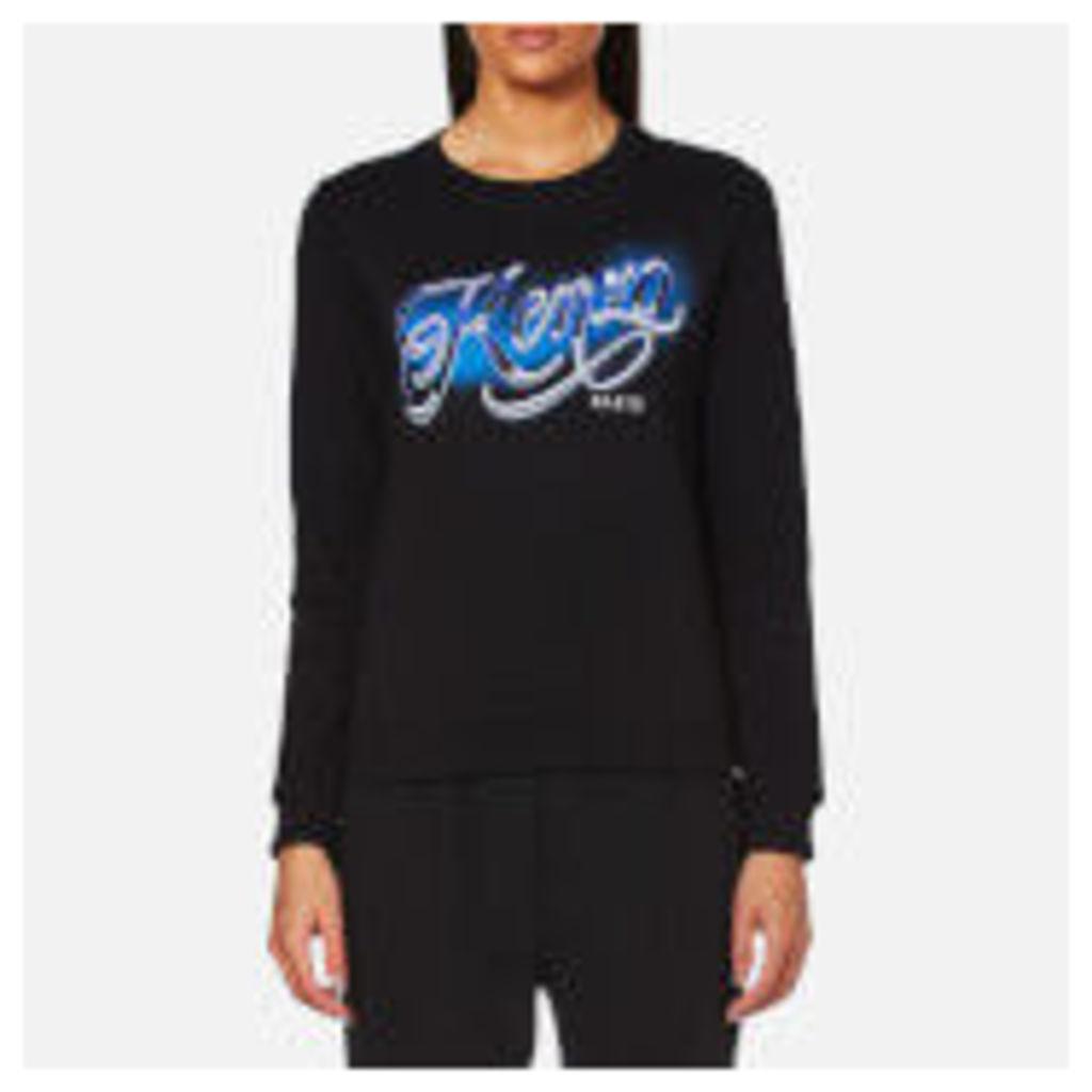 KENZO Women's Light Cotton Molleton Logo Sweatshirt - Black