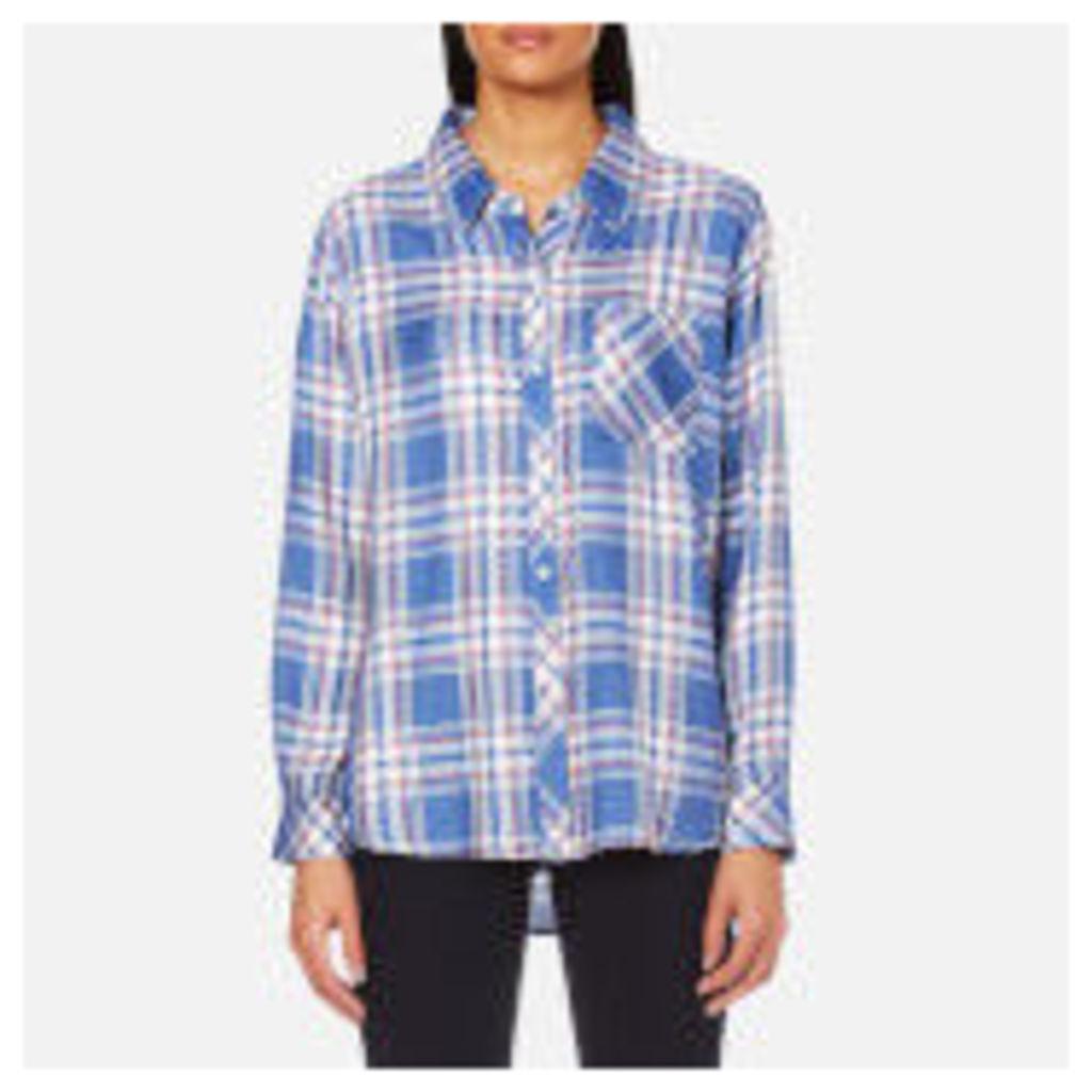 Rails Women's Hunter Check Shirt - Sky/White/Daffodil