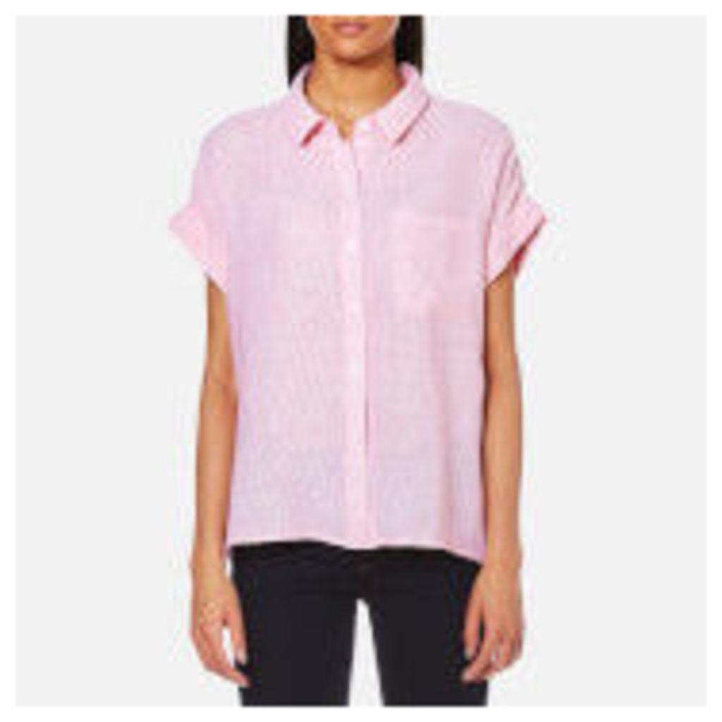Rails Women's Whitney Short Sleeve Shirt - Melon/White Stripe