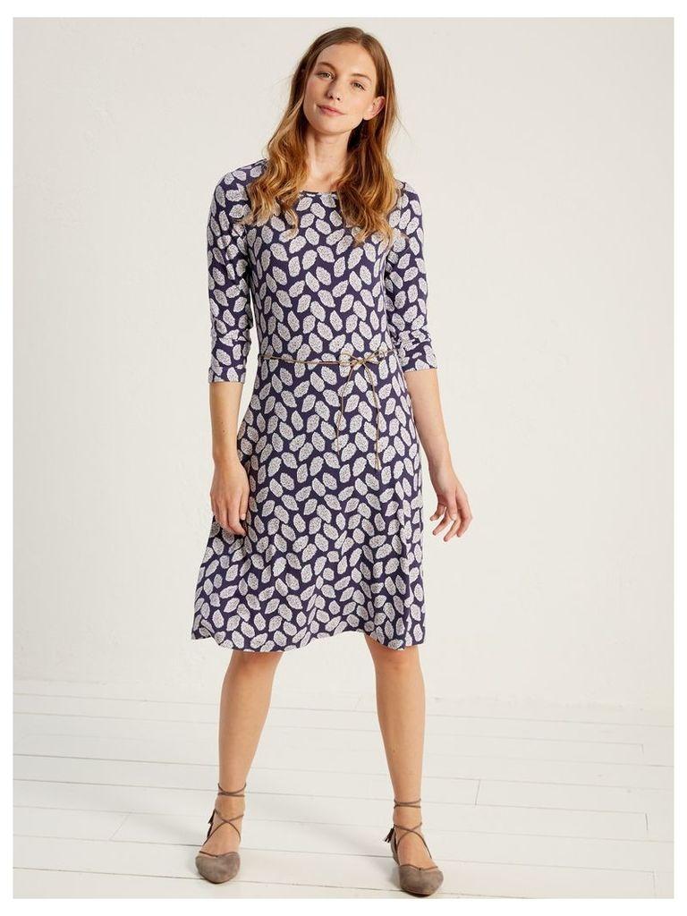 GRAPHIC LEAF JERSEY DRESS