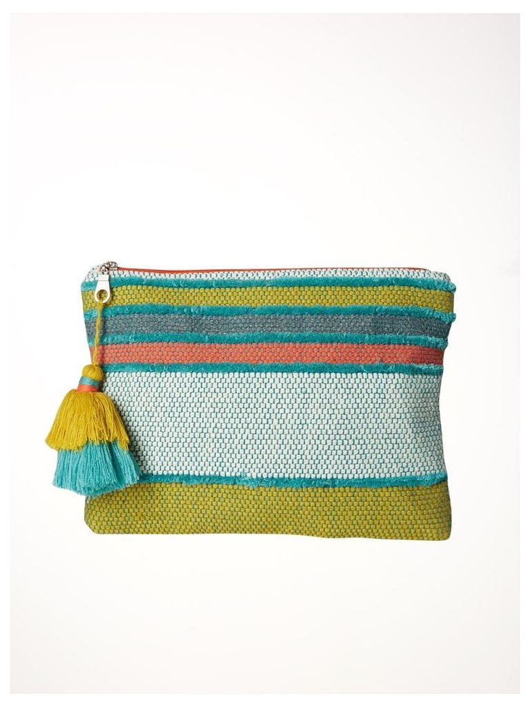TEXTURED STRIPE HOLIDAY POUCH