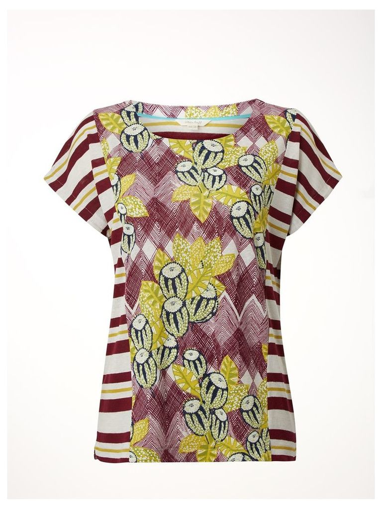 EXOTIC FLORAL JERSEY TEE