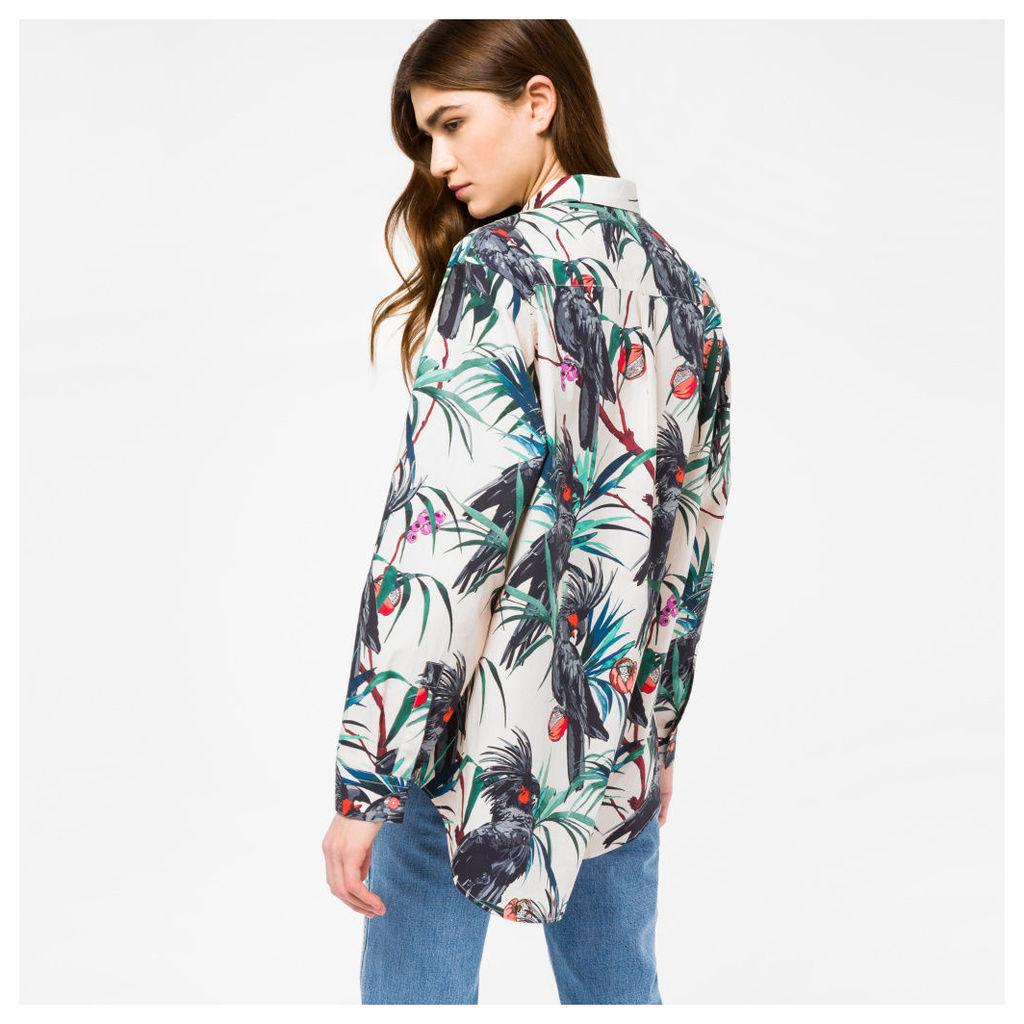 Women's 'Cockatoo' Print Cotton Shirt