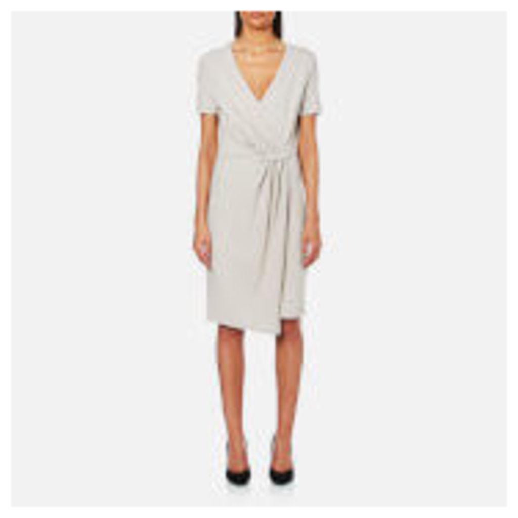 Selected Femme Women's Dinga Short Sleeve V-Neck Dress - Dove