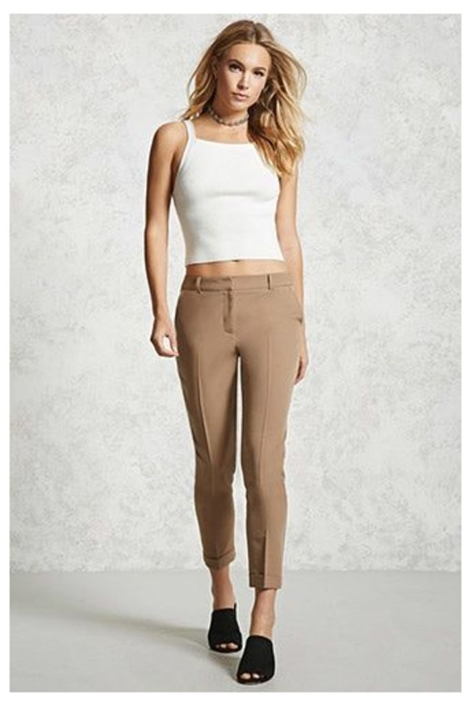 Cuffed Cropped Trousers