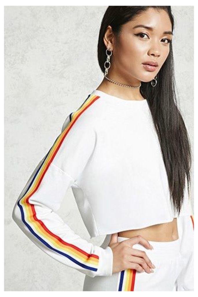 Cropped Stripe Sweatshirt