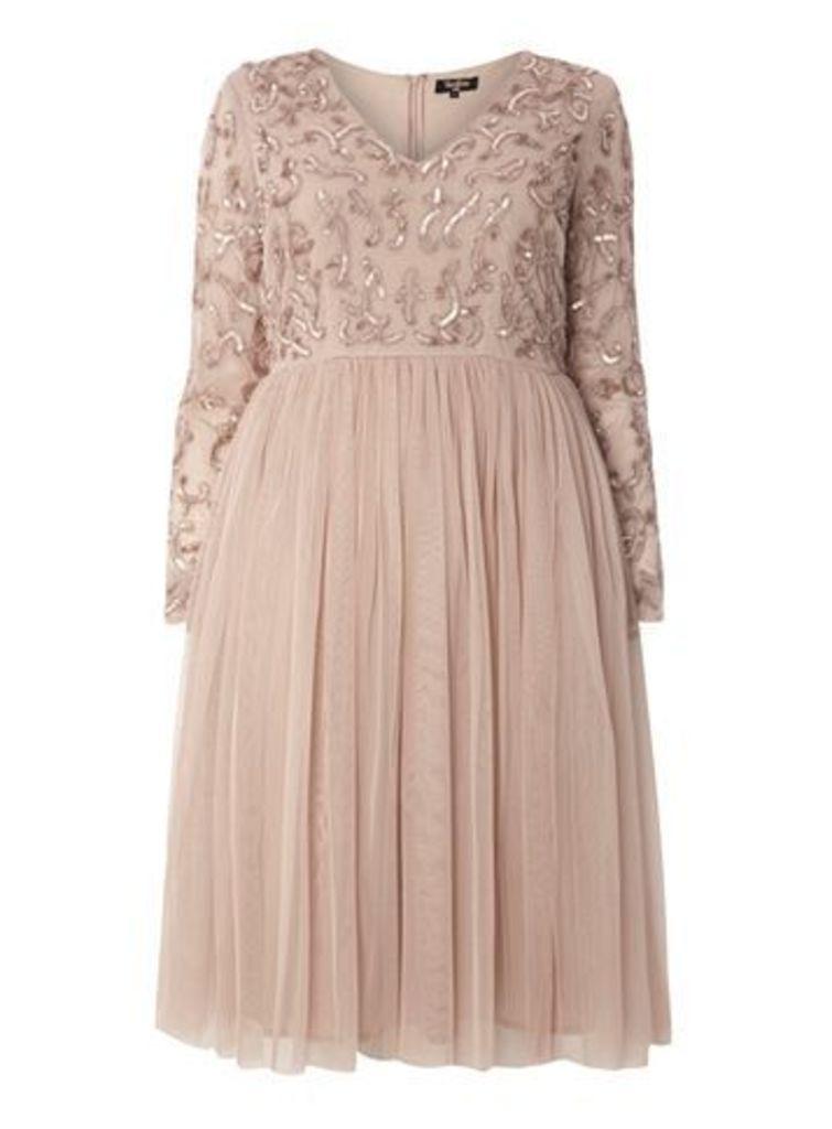 Lovedrobe Luxe Midi Dress, Mink