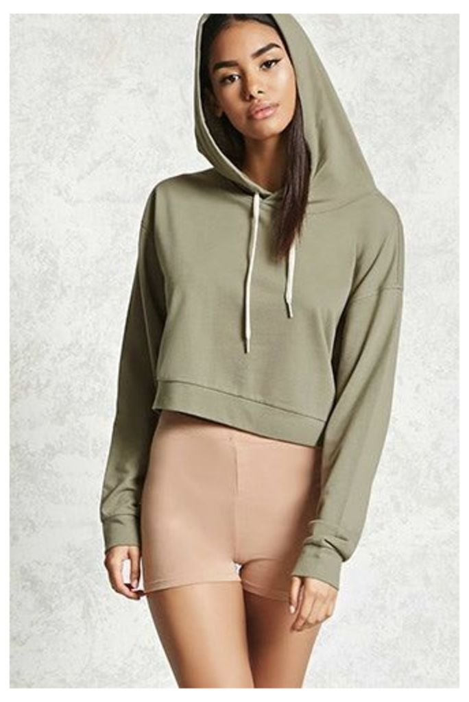 Cropped French Terry Hoodie