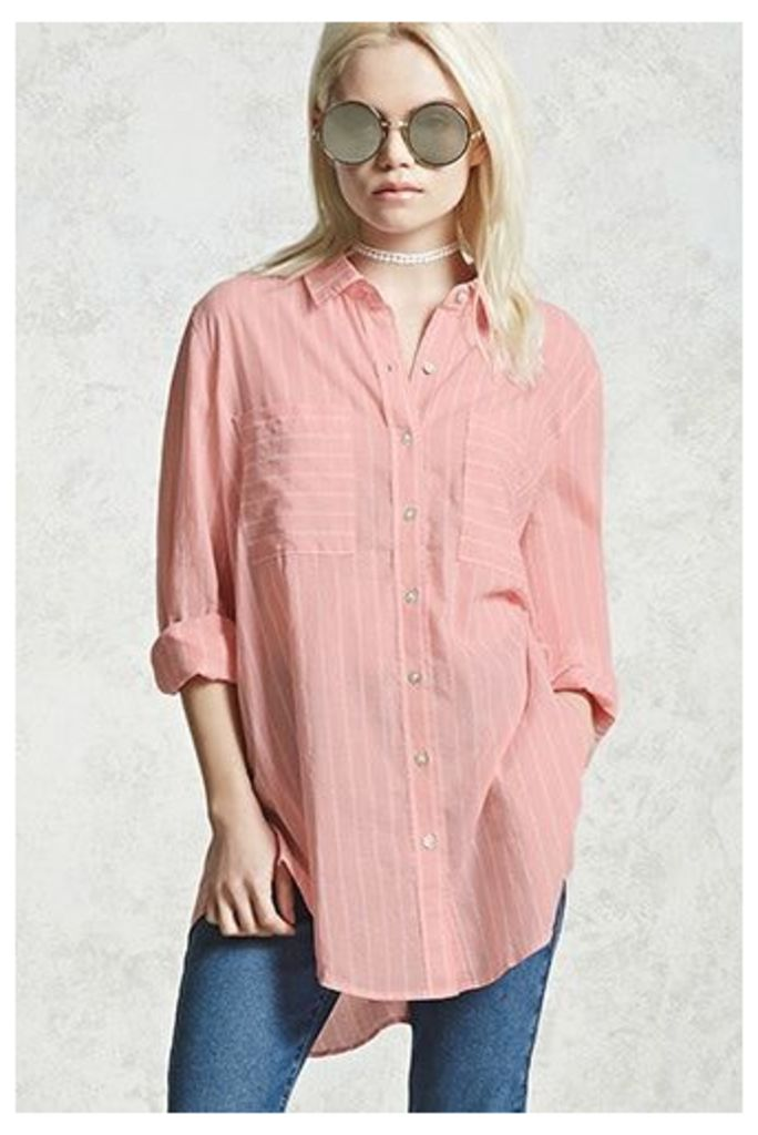 Striped Button Front Shirt