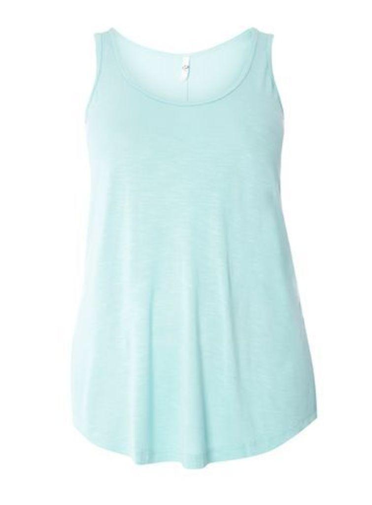 Aqua Blue Jersey Vest, Aqua