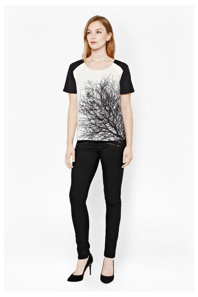 Oak Tree Monochrome Print T-Shirt
