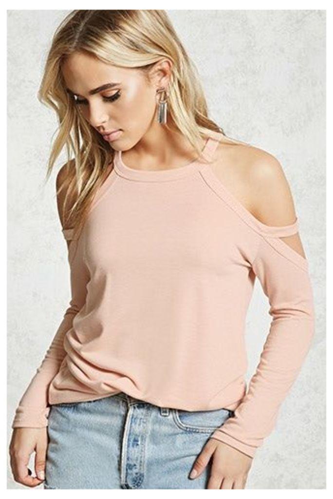 Open-Shoulder Sweatshirt